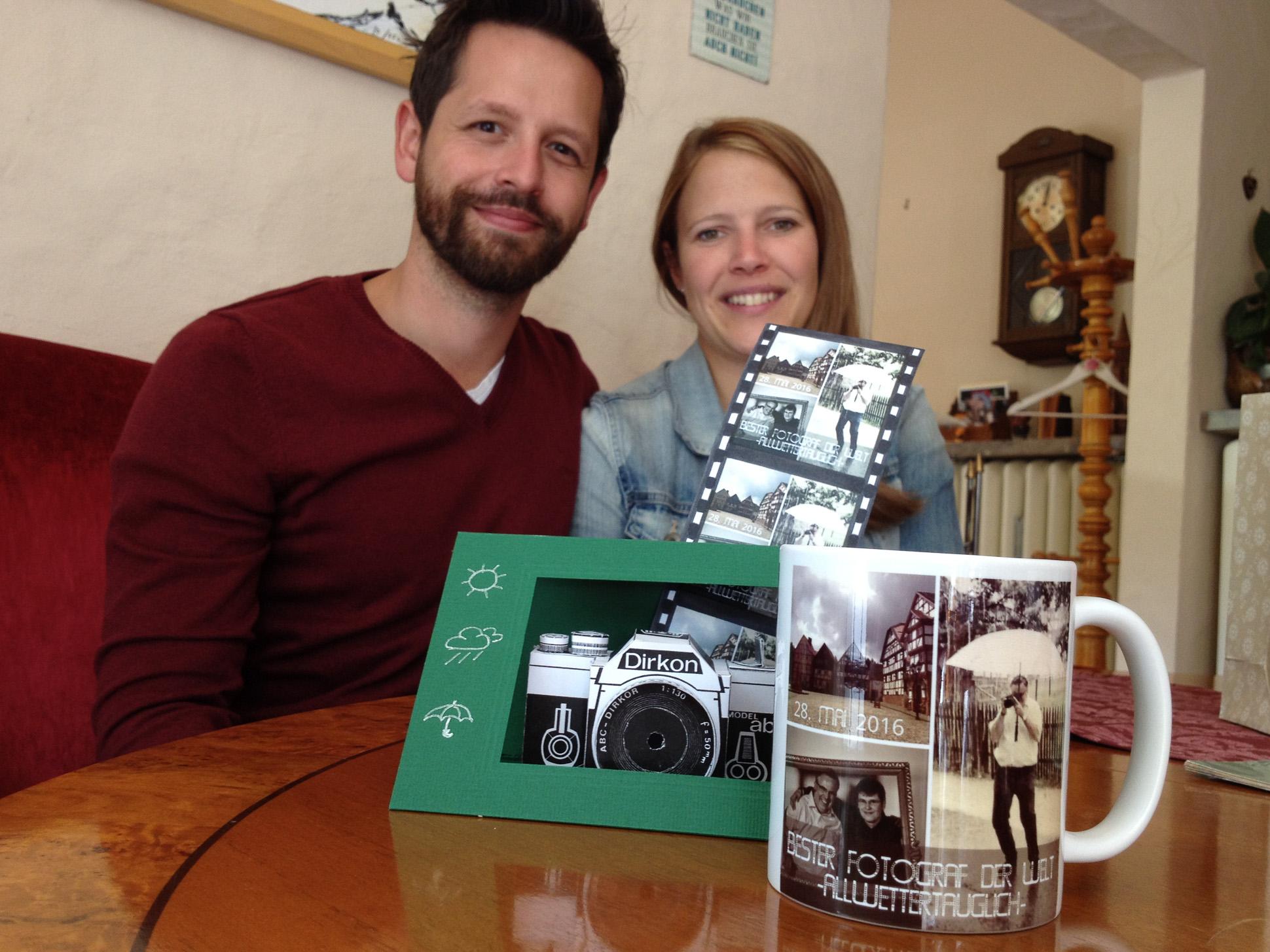 Brautpaar Dankeschoen Bester-Fotograf-der-Welt Andreas Bender, Handyfoto