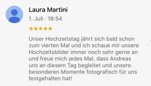 5-Sterne Google-Bewertung für Hochzeitsfotograf Andreas Bender
